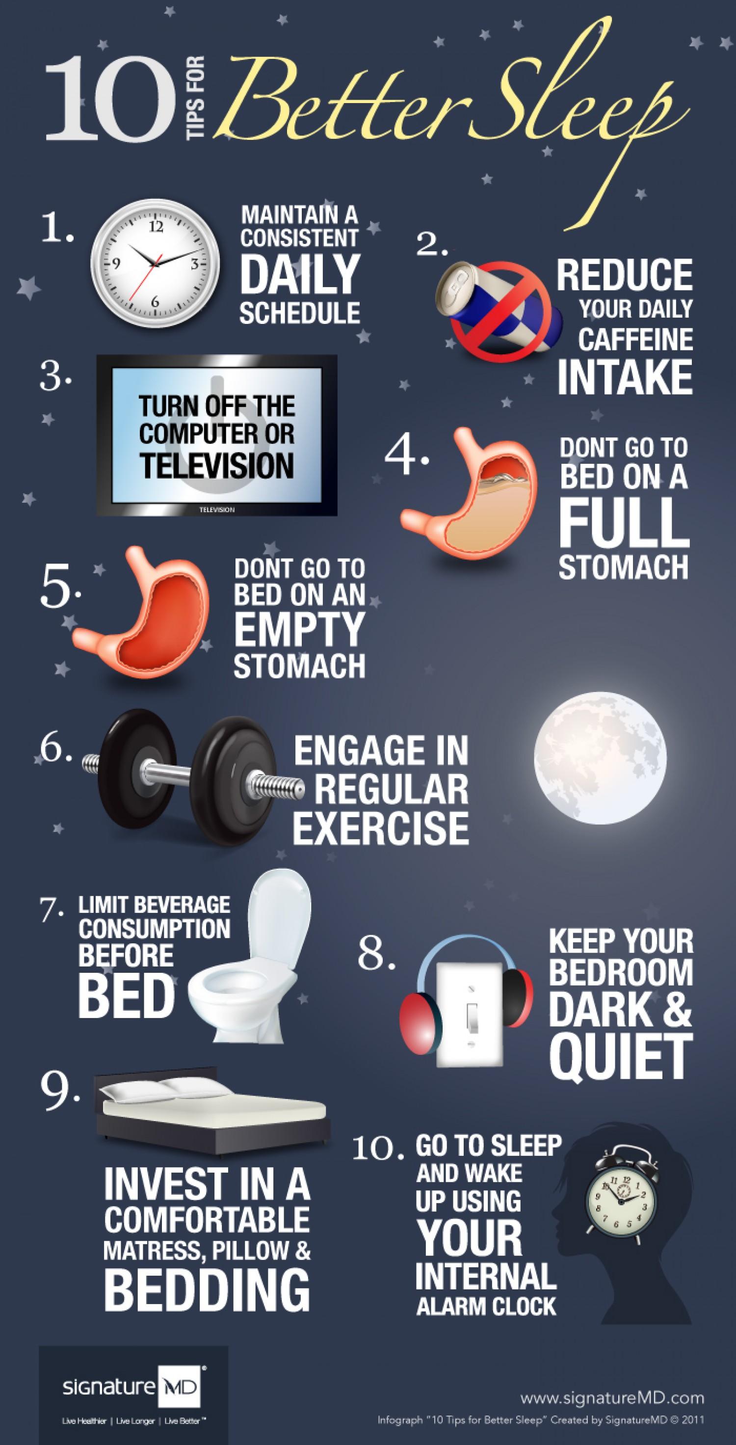 sleep tips inforgraphic
