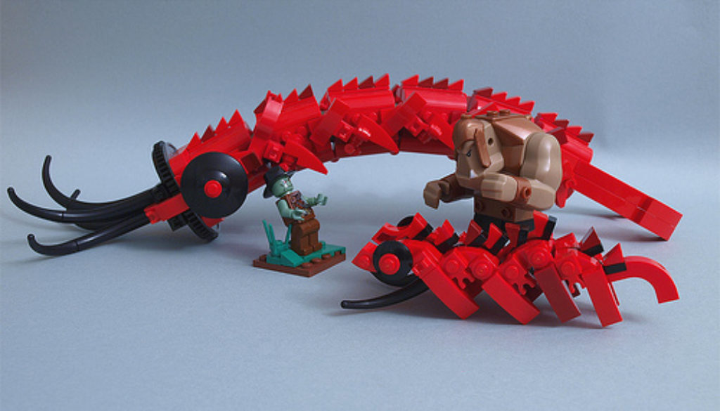 Lego Worm Monster